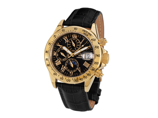 André Belfort Le Capitaine gold black leather ...